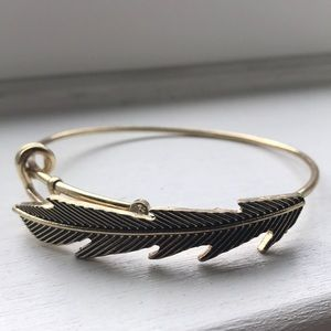 Jewelry - Gold-toned Feather Bracelet